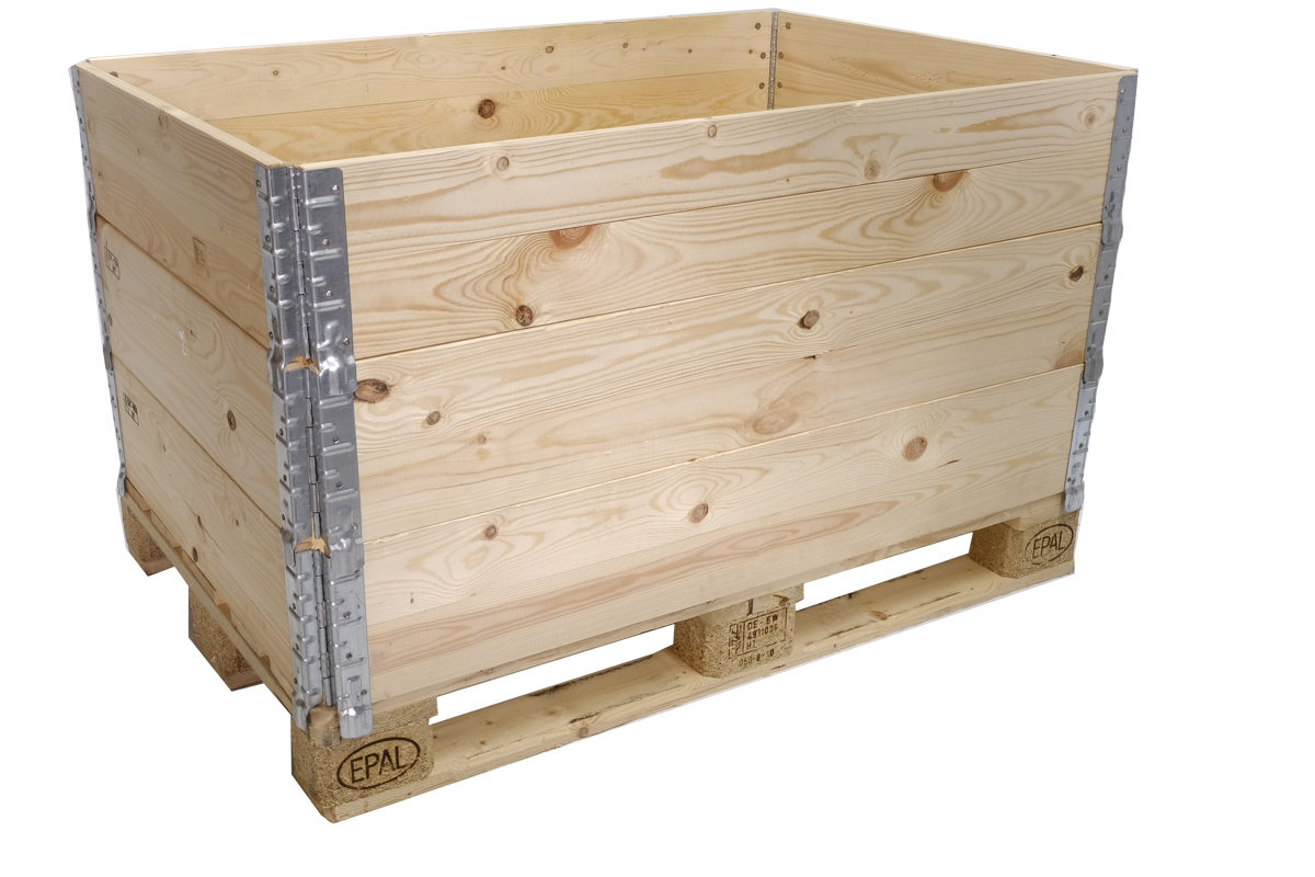 Holzaufsatzrahmen, gebraucht, A++ Qualität,  4 Scharniere, faltbar, 1200x800x200mm