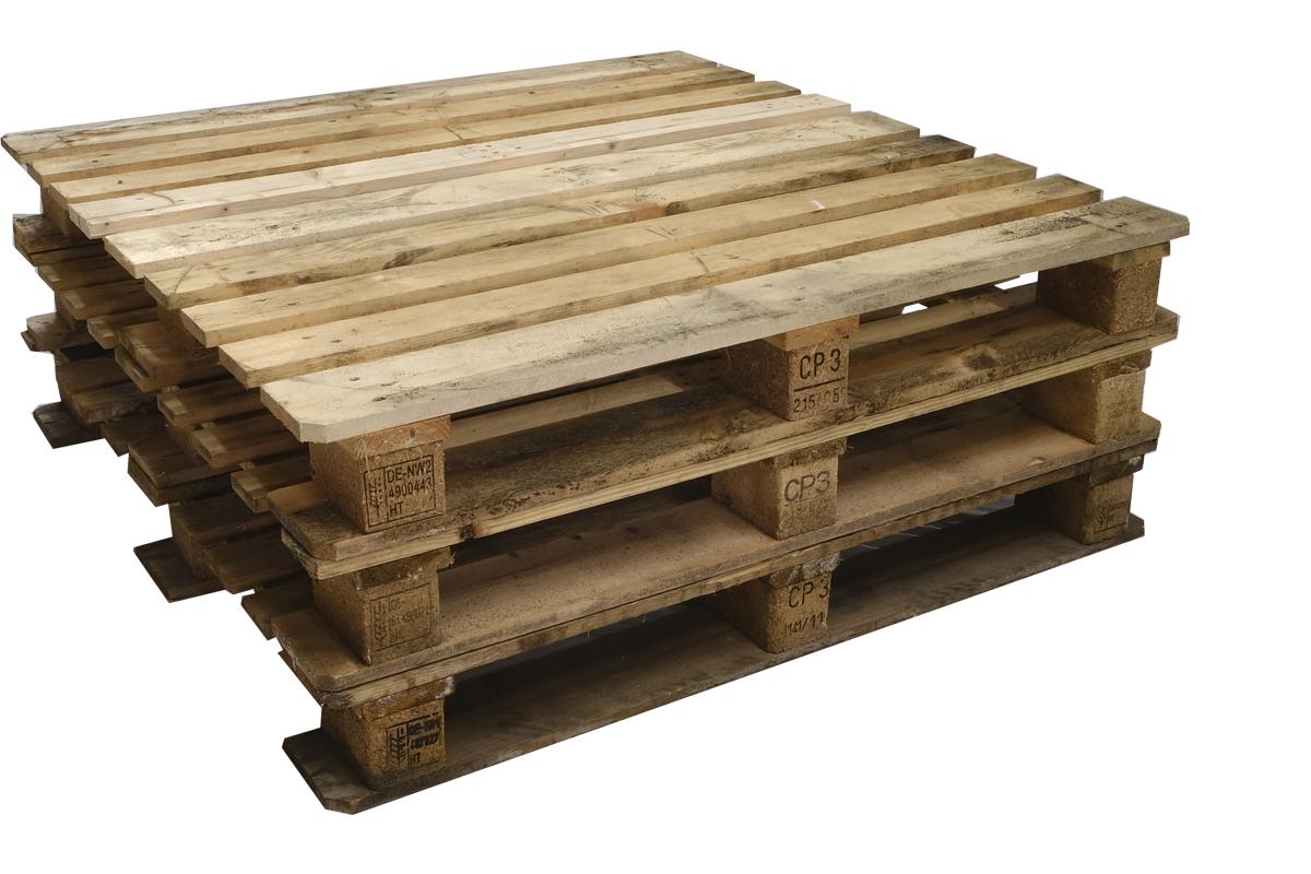 CP3 Paletten, gebraucht, 9 Deckbretter, Schwere Ausführung, 1140x1140mm