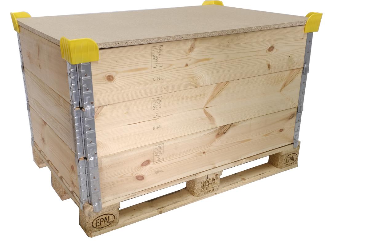 Stapelecken-Satz (144 St.) für Holzaufsatzrahmen, neu, gelb, aus PE