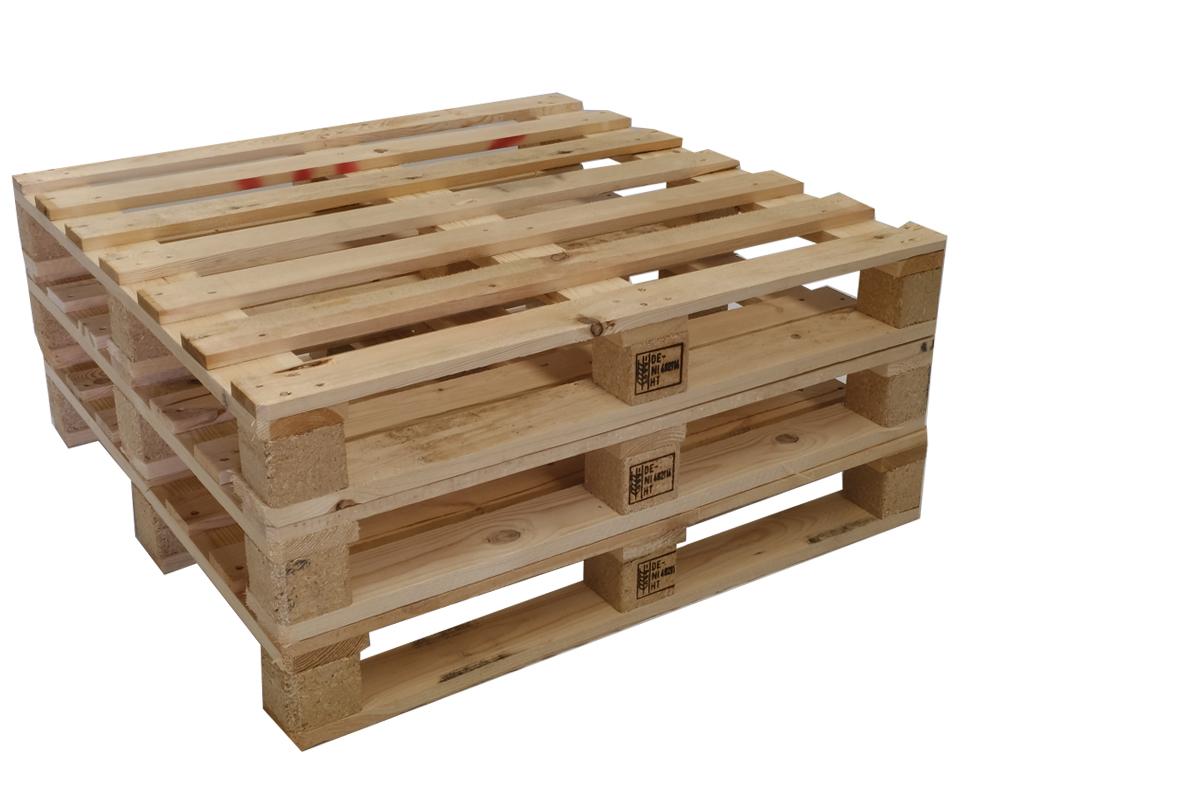 Containerpaletten, gebraucht, 7 Deckbretter, Mittelschwere Ausführung, 1000x1000mm