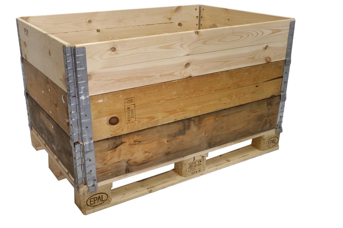 Holzaufsatzrahmen, gebraucht, A+B Qualität,  4 Scharniere, faltbar, 1200x800x200mm
