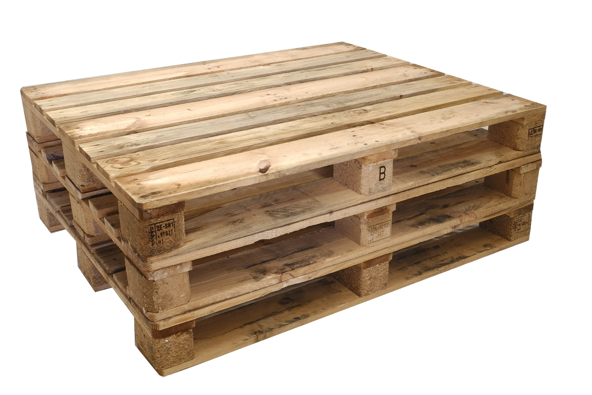 Glashütten Paletten Standard T5, gebraucht, 7 Deckbretter, Schwere Ausführung, 1000x1200mm