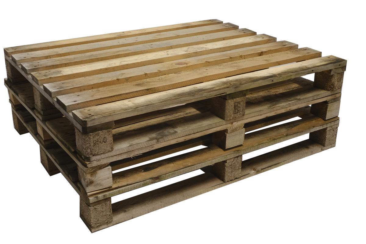 Industriepaletten, gebraucht, 5/6/7 Deckbretter, Mittelschwere Ausführung, 1200x1000mm