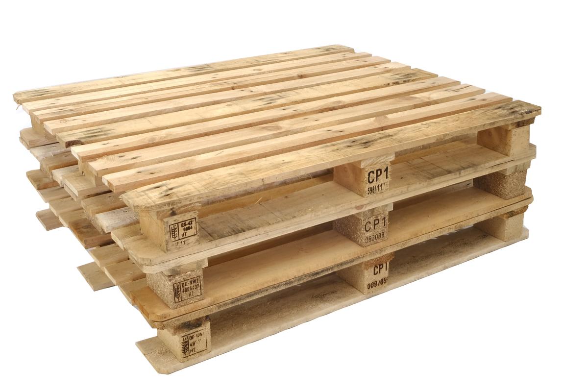 CP1 Paletten, gebraucht, 9 Deckbretter, Schwere Ausführung, 1200x1000mm